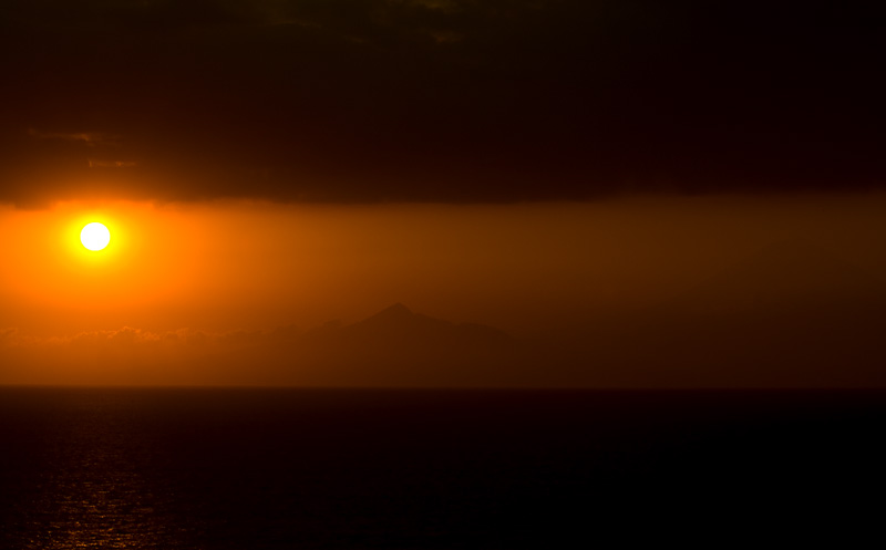 Bali Sunset from Lombok Island.  - Gili Trawangan, Lombok, Indonesia - Daily Travel Photos