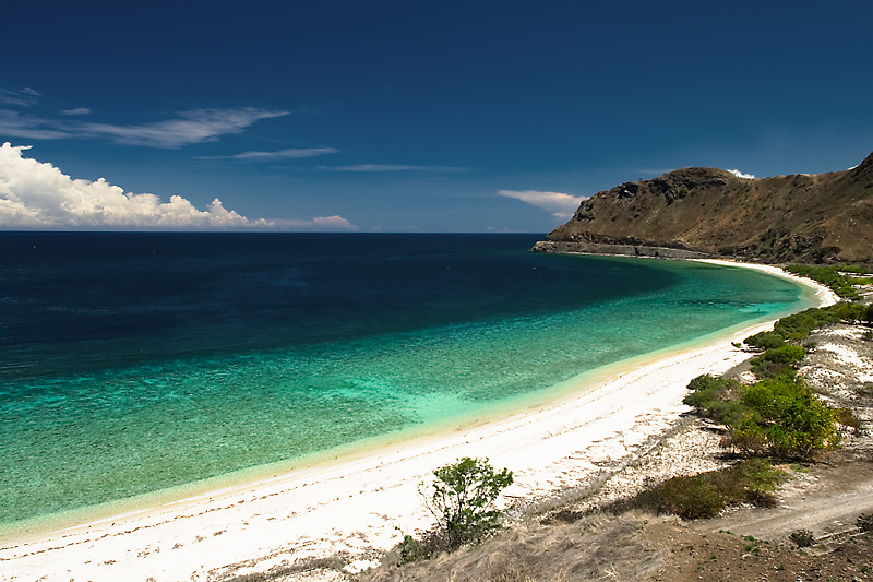 A deserted beach near the capitol. - Dili, East Timor - Daily Travel Photos
