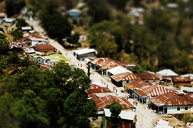 Faux Tilt-Shift of a Timorese Village - Maubisse, East Timor - Daily Travel Photos