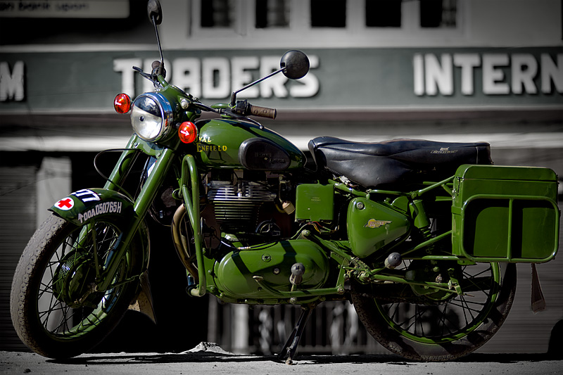 A cult motorcycle brand, the Royal Enfield. - Gangtok, Sikkim, India - Daily Travel Photos