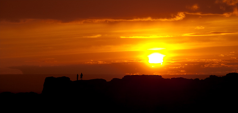 Rock formation sunset. - Baga Gazrin Chuluu, Mongolia - Daily Travel Photos