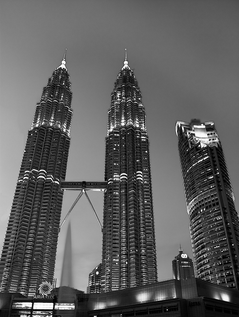 Petronas Towers at the KLCC in the evening. - Kuala Lumpur, Malaysia - Daily Travel Photos