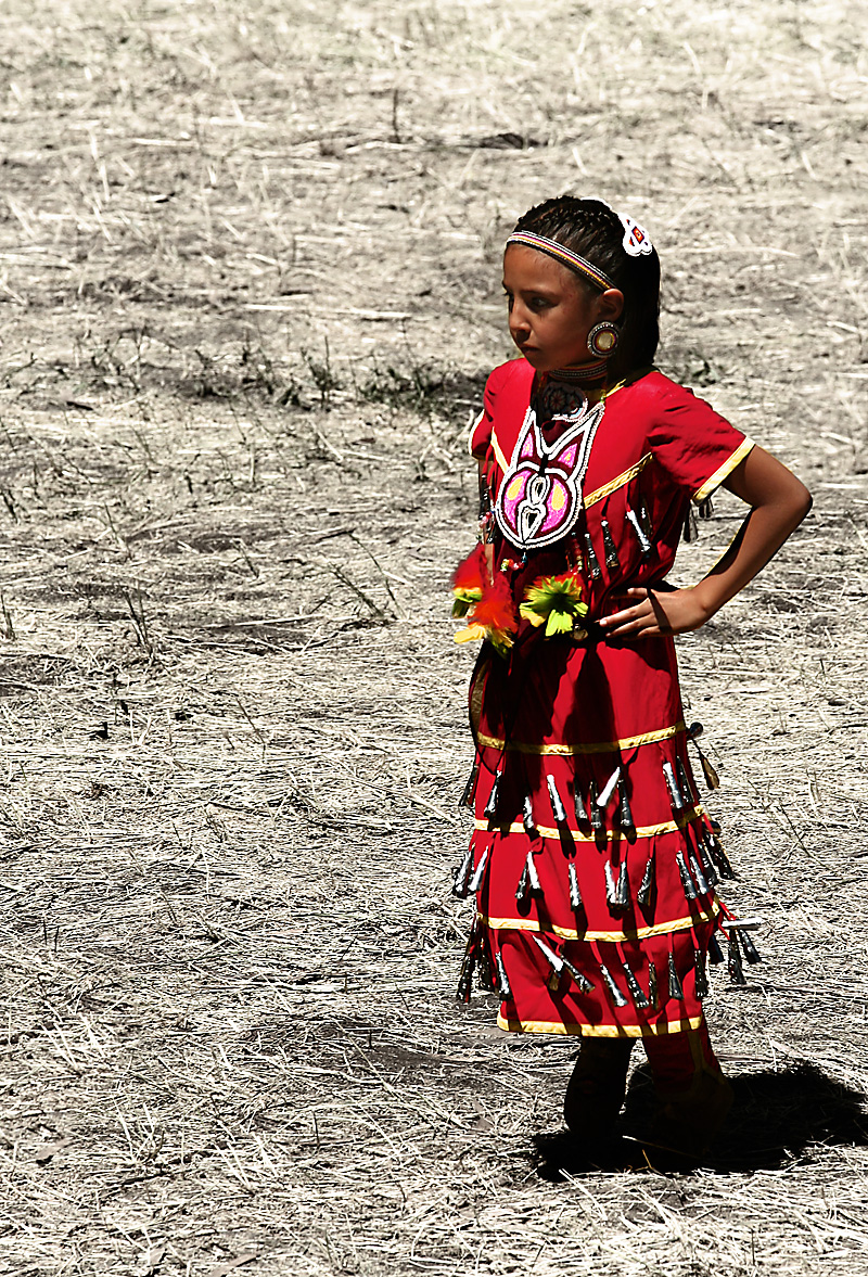 A native american girl at the annual Powwow held on the campus of Stanford University.  - Palo Alto, California, USA - Daily Travel Photos