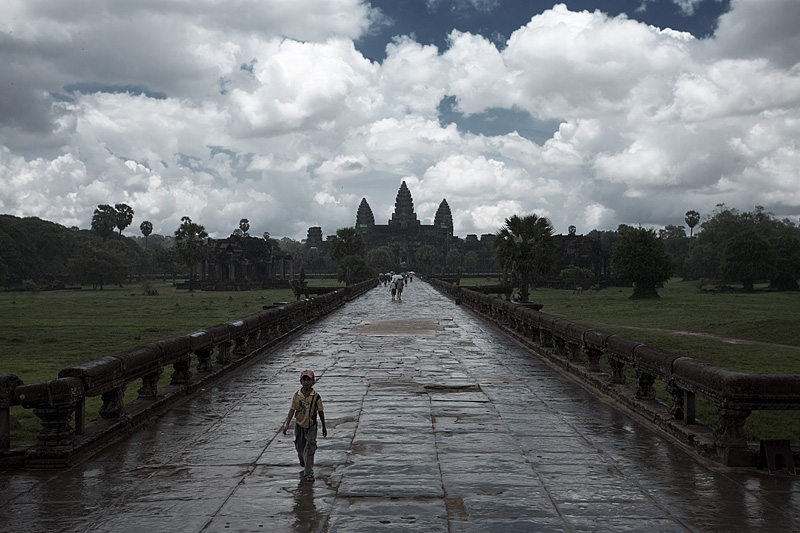 Angkor Wat after a daytime shower. - Siem Reap, Cambodia - Daily Travel Photos