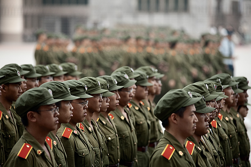 Compulsory army training for Chinese university students. - Changsha, Hunan, China - Daily Travel Photos