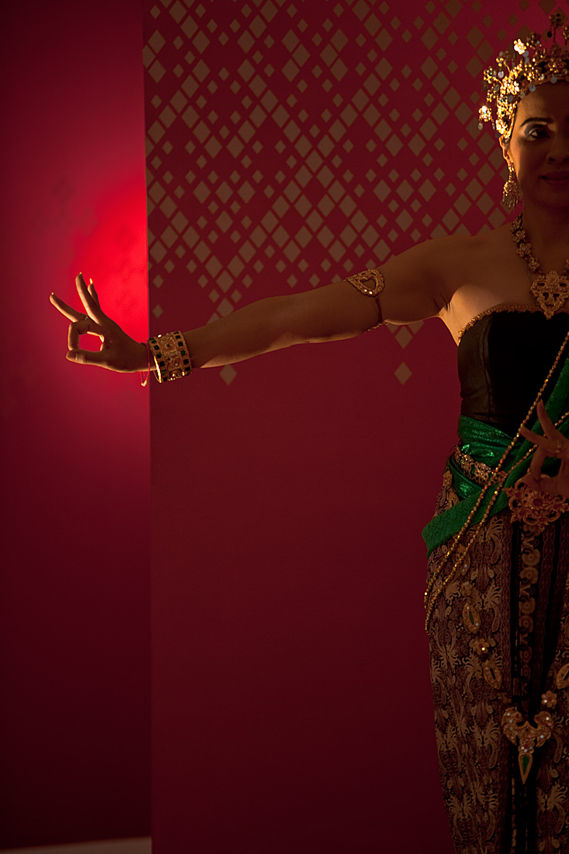 A Thai woman performs traditional dance at Paragon Mall.  - Bangkok, Thailand  - Daily Travel Photos