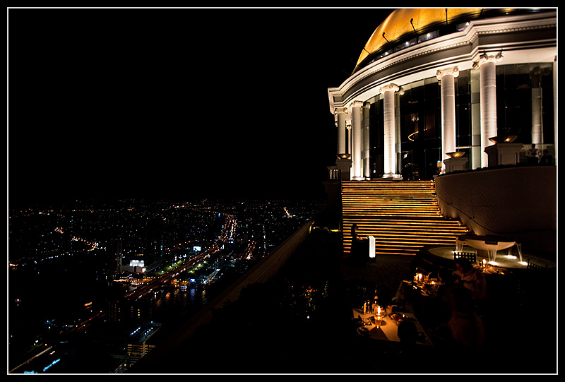 State Tower rooftop bar and restaurant with panoramic views of the downtown. - Bangkok, Thailand - Daily Travel Photos