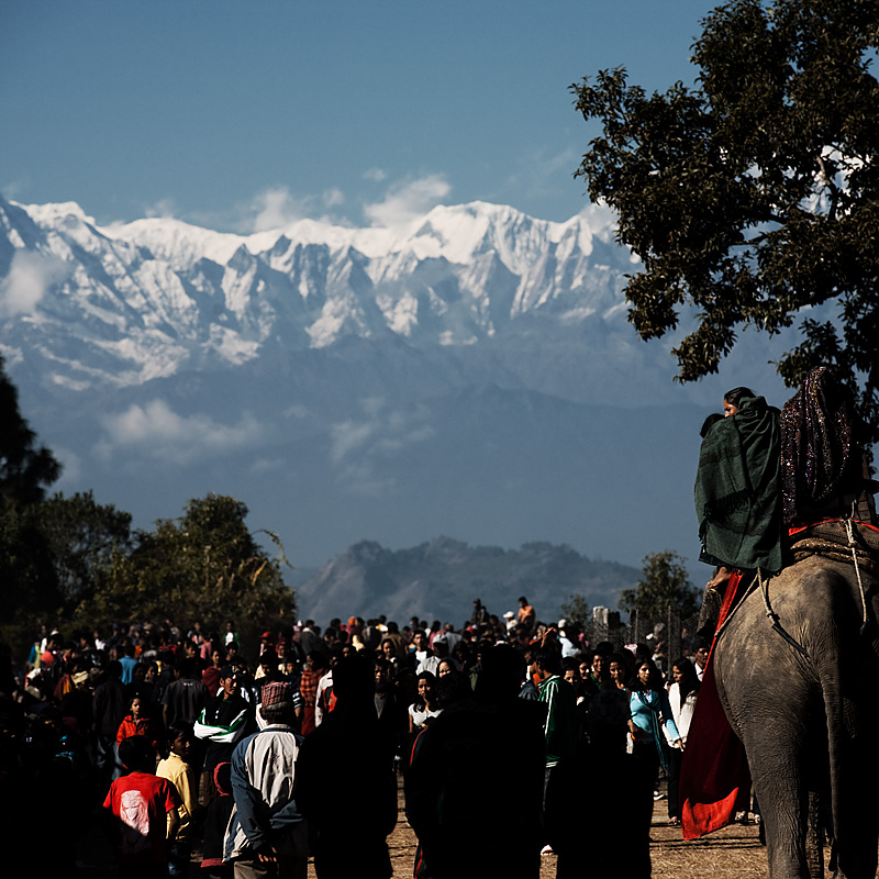 A carnival with the Himalayas as background.  - Bandipur, Nepal - Daily Travel Photos