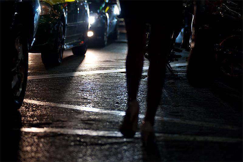 Street prostitute among traffic. - Bangkok, Thailand - Daily Travel Photos