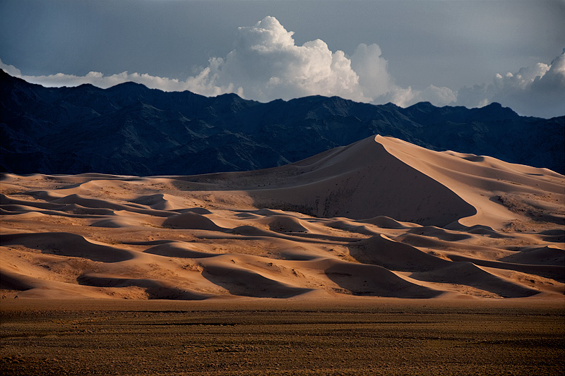 Incredibly large sand dunes and tiny camels for scale. - Gobi Desert, Mongolia - Daily Travel Photos
