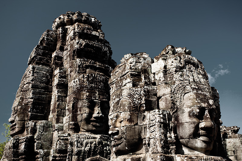 Happy faces of Bayon temple complex in Angkor Wat. - Siem Reap, Cambodia - Daily Travel Photos
