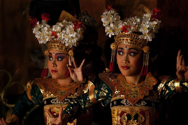 The beautiful playful eyes of a Legong dancer. - Ubud, Bali, Indonesia - Daily Travel Photos