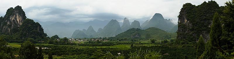 Beautiful karst rock formations and village. - Xingping, Guanxi, China - Daily Travel Photos