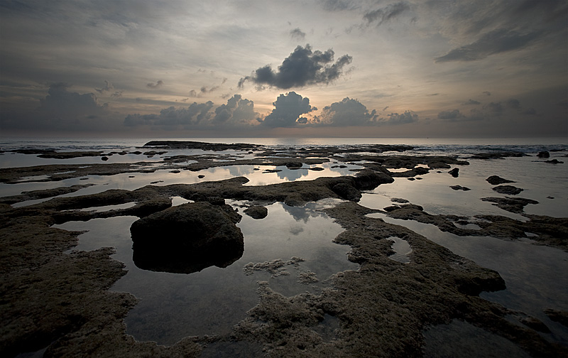 Pools of trapped ocean water on the coastline. - Neil Island, Andaman Nicobar Islands, India - Daily Travel Photos