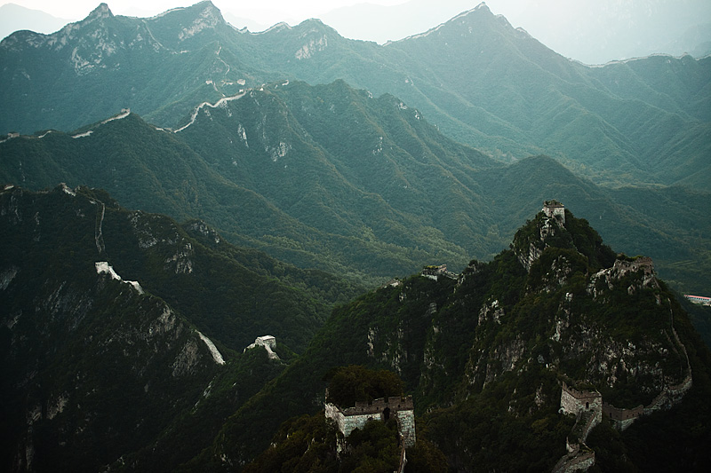 Jiankou, a crumbling non-restored section of the Great Wall China - Beijing, China - Daily Travel Photos