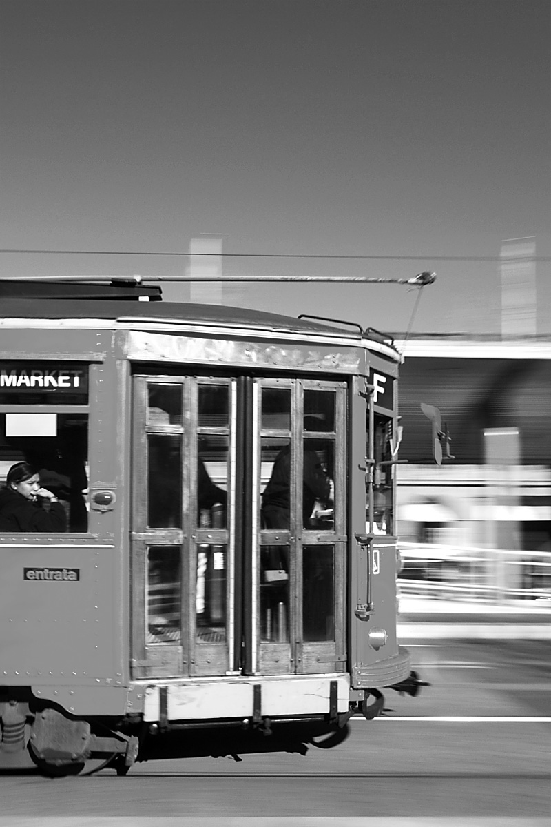Street trolley along the Embarcadero. - San Francisco, California, USA - Daily Travel Photos