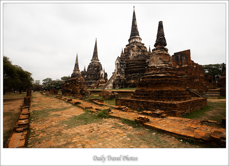 Stupa ruins of the ancient Thai capitol - Ayuthaya, Thailand - Daily Travel Photos