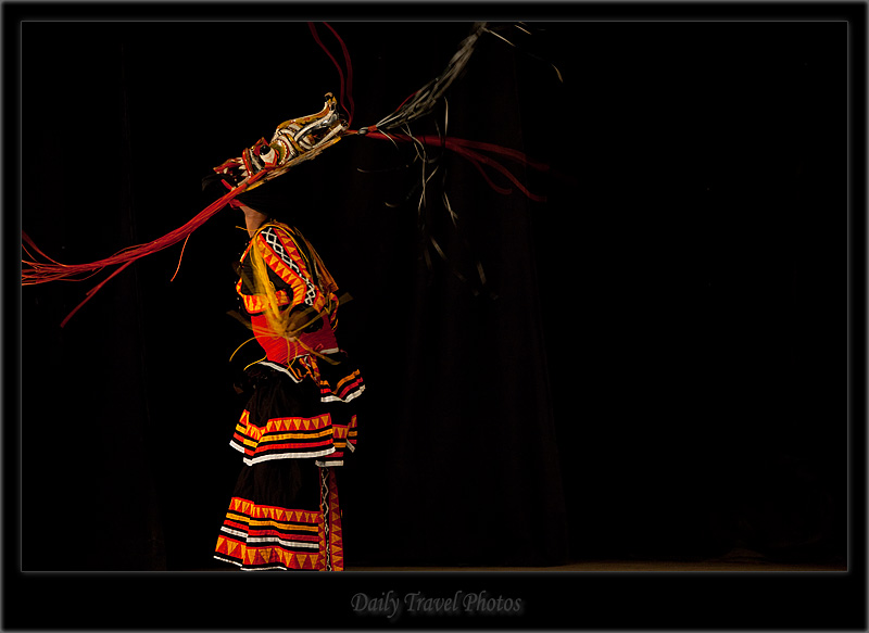 Traditional masked Sri Lankan dancer - Kandy Dance I - Kandy, Sri Lanka - Daily Travel Photos