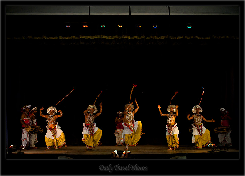 Traditional Sri Lankan group dance and flying tassles - Kandy Dance I - Kandy, Sri Lanka - Daily Travel Photos