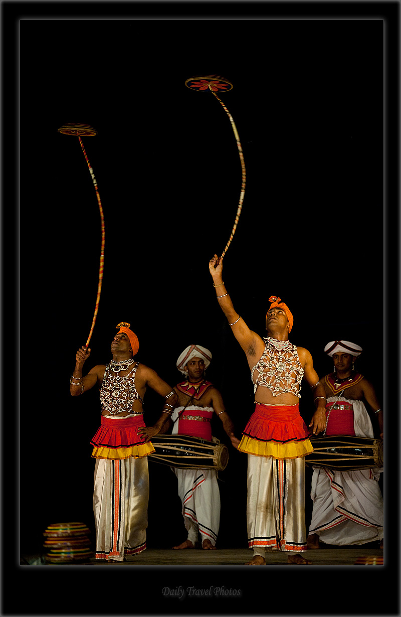 Traditional plate spinning performance - Kandy Dance II - Kandy, Sri Lanka - Daily Travel Photos