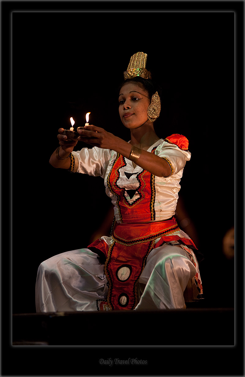 Female traditional dance performer - Kandy, Sri Lanka - Daily Travel Photos