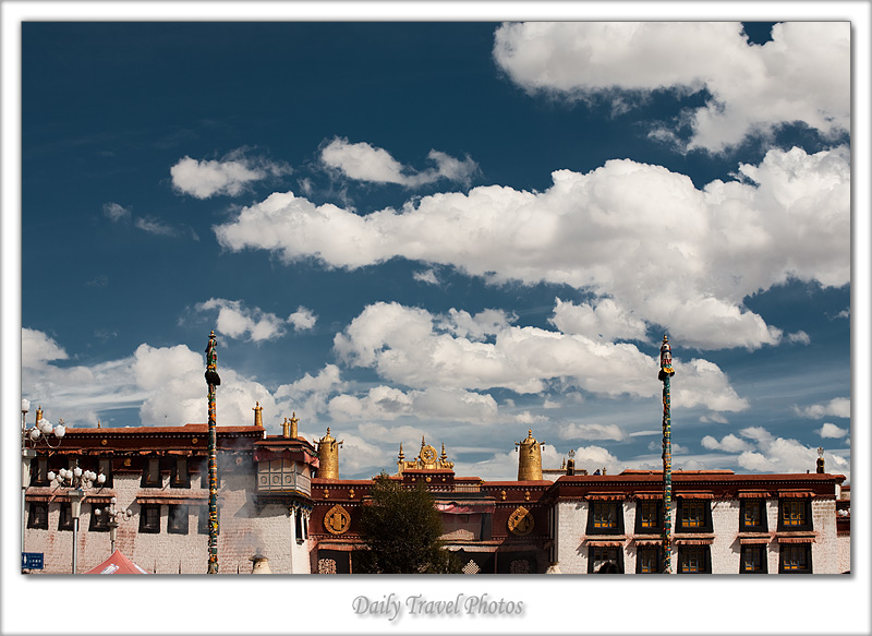 Jokhang Temple blue sky - Lhasa, Tibet - Daily Travel Photos