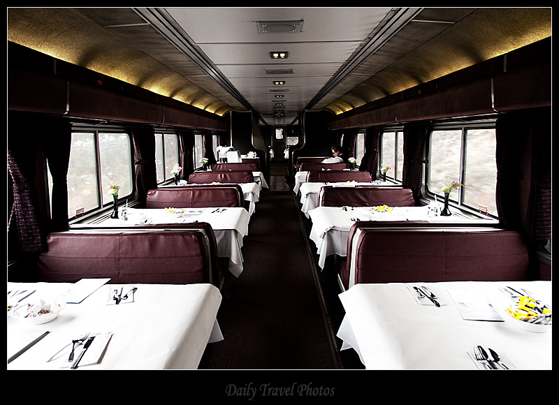 Amtrak dining car between San Francisco and Vancouver - Oregon - Daily Travel Photos