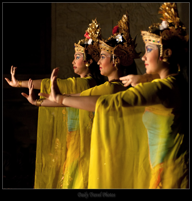 Female Balinese Legong dance performers - Ubud, Bali, Indonesia - Daily Travel Photos