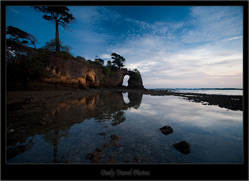 A scenic landscape and reflection next to the ocean - Neil Island, Andaman & Nicobar, India - Daily Travel Photos