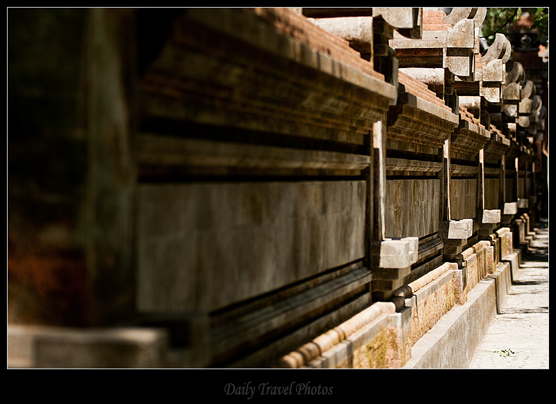 Temple Walls of monkey temple - Bali, Indonesia - Daily Travel Photos