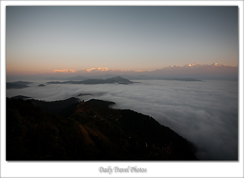 An ocean of clouds in the valley below the Himalayas - Bandipur, Nepal - Daily Travel Photos