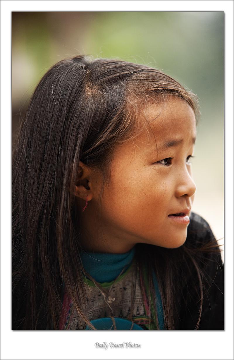 Cute Miao ethnic minority girl - Biasha, Guizhou, China - Daily Travel Photos