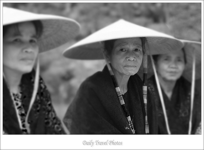 Traditional conical hats worn by local Indonesian women - Rantepao, Sulawesi, Indonesia - Daily Travel Photos
