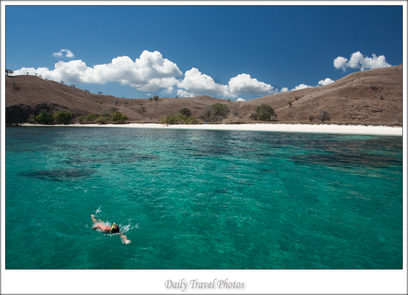 Beautiful turqoise waters and secluded beach - Komodo, Flores, Indonesia - Daily Travel Photos
