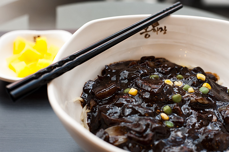 Black Bean Paste Sauce Korean Noodles - Seoul, South Korea - Daily Travel Photos