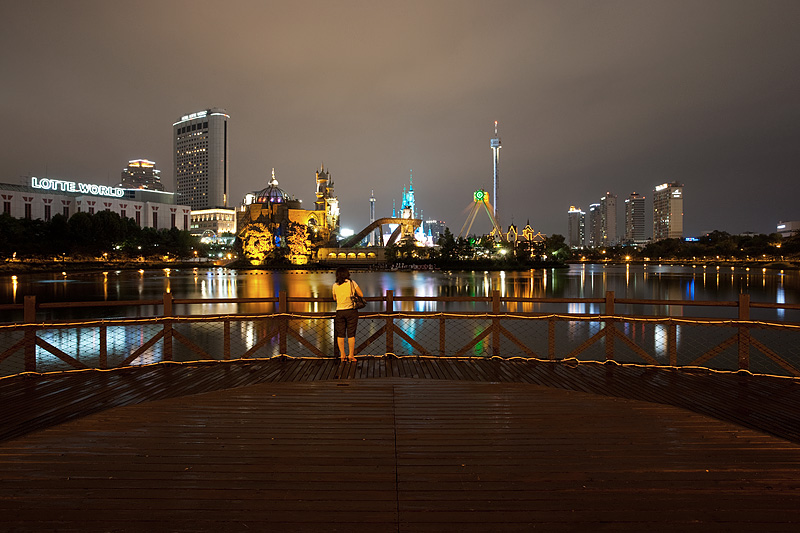 Lotte World Magic Island Wooden Deck - Seoul, South Korea - Daily Travel Photos