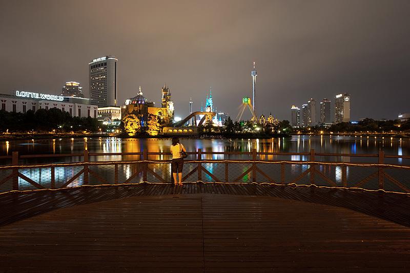 Lotte World Magic Island Wooden Deck - Seoul, South Korea - Daily Travel Photos