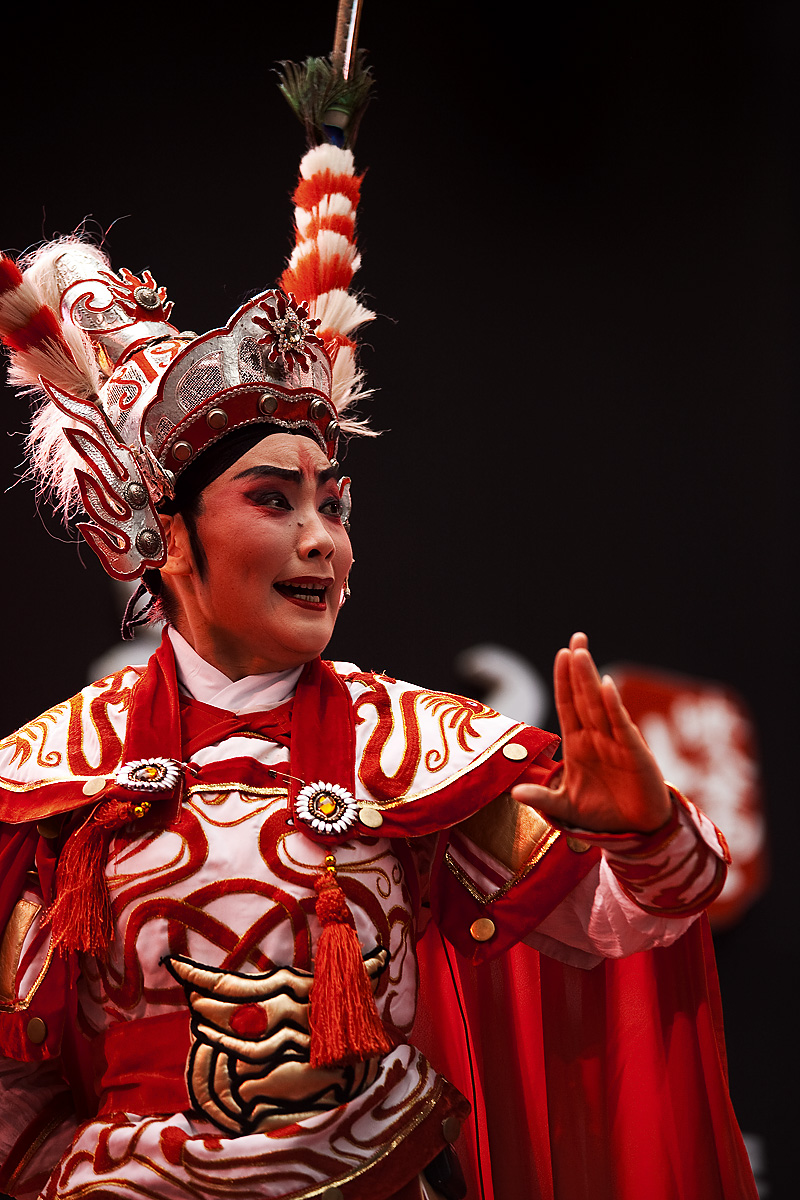 Fierce Face Beijing Opera Chop - Seoul, South Korea - Daily Travel Photos