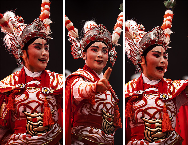 Fierce Face Beijing Opera Triptych - Seoul, South Korea- Daily Travel Photos