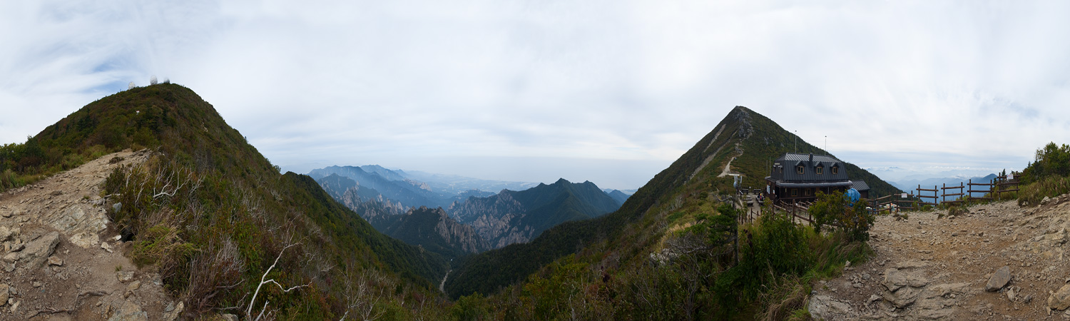 Panorama Peak Dae Chung Bong Jungchung Shelter - Seoraksan, South Korea - Daily Travel Photos