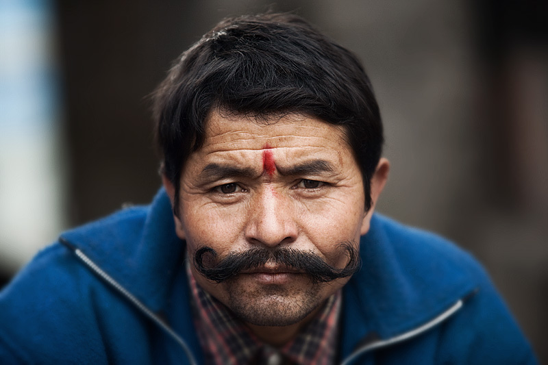 Kashmiri Man Handlebar Mustache - Darjeeling, West Bengal, India - Daily Travel Photos