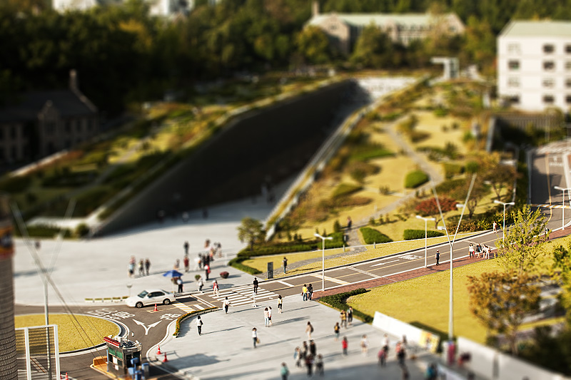 Ewha Womans University ECC Miniature Tilt-Shift Landscape - Seoul, South Korea - Daily Travel Photos
