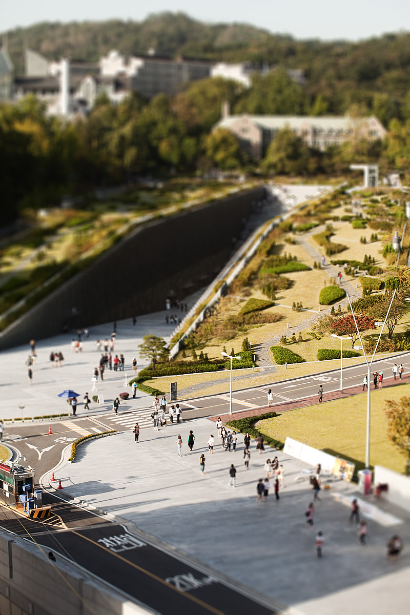 Ewha Womans University ECC Miniature Tilt-Shift Portrait - Seoul, South Korea - Daily Travel Photos