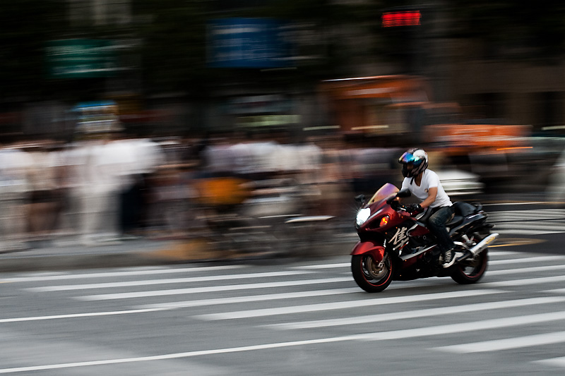 Motorcycle Blur Pan Crotch Rocket - Seoul, South Korea - Daily Travel Photos