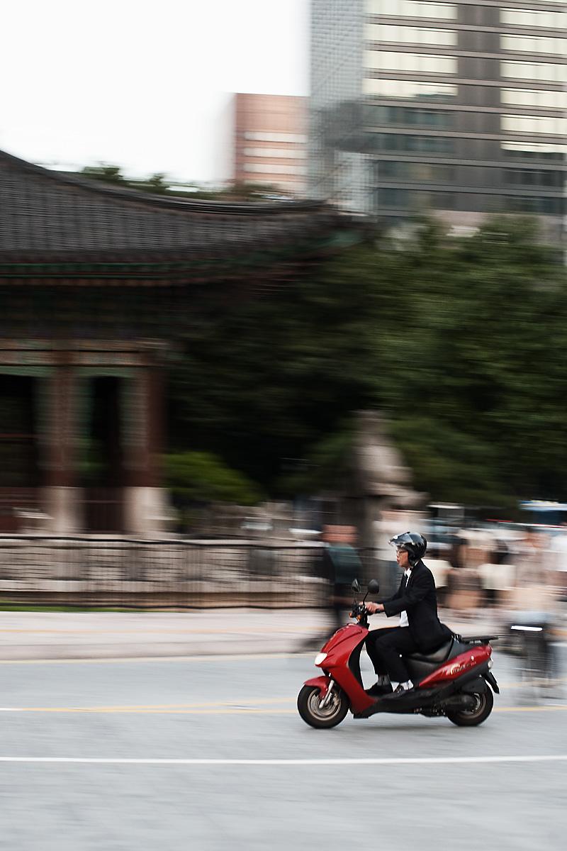 Scooter Pan Blur - Seoul, South Korea - Daily Travel Photos