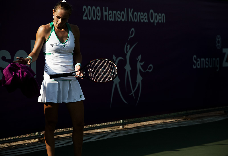 Hansol Open WTA Latvian Tennis Player Magdalena Rybarikova Towel - Seoul, South Korea - Daily Travel Photos