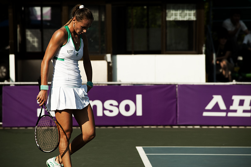 Hansol Open WTA Latvian Tennis Player Magdalena Rybarikova Hidden Ball - Seoul, South Korea - Daily Travel Photos