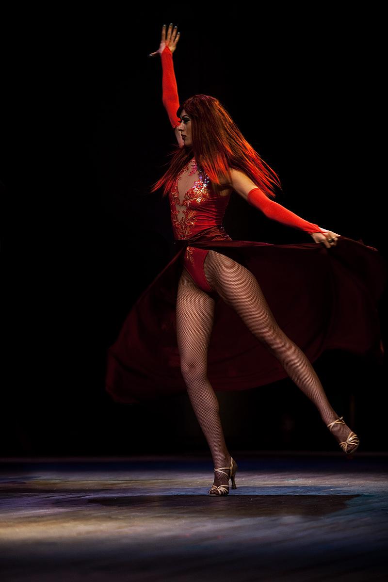 City Hall Plaza International Dance Festival Russian Redhead Wig Twirling - Seoul, South Korea - Daily Travel Photos