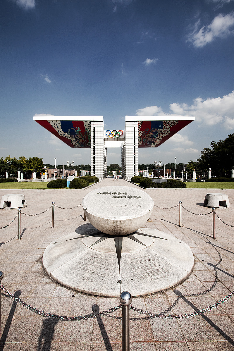 World Peace Gate Olympic Memorial Building Sundial - Seoul, South Korea - Daily Travel Photos