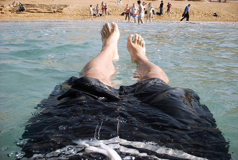Dead Sea Float Beach - Near Amman, Jordan - Daily Travel Photos
